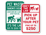 Clean Up After Your Dog Fine Signs