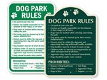 Dog Park Regulation Signs