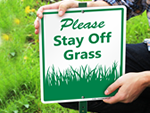 Keep Off Grass Lawnboss Signs