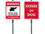 LawnBoss™ Beware of Dog Signs