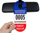 Parent Pick Up Tags