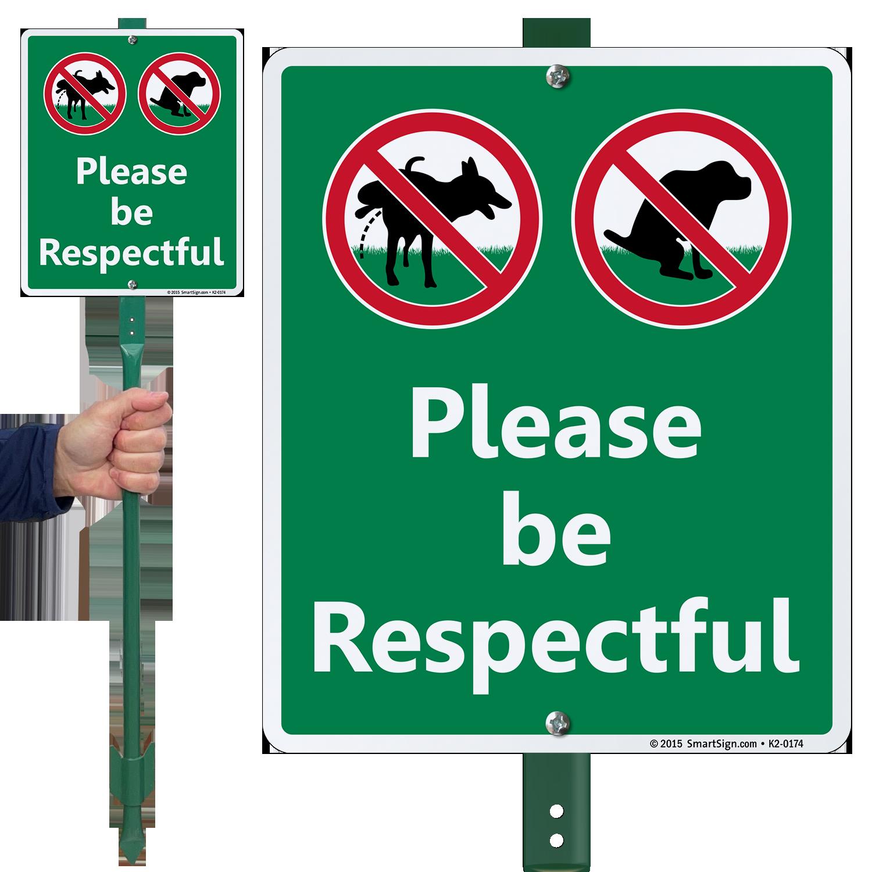 Garden & Outdoors Garden Décor No Dog Peeing Be Respectful Yard Sign
