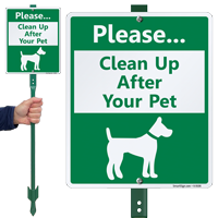 Please Clean Up After Your Pet Sign