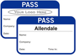 Time Expiring  Pass - Fill in your own Name, Company Name, Date, Time In and Choose Color