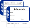 Vendor Time Expiring Badge - Fill in your own Name, Company Name, Visiting, Date and Choose Color