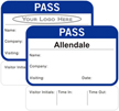 Time Expiring  Pass - Fill in your own Name, Company Name, Visiting, Date and Choose Color
