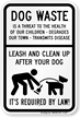Pick Up Poop Sign