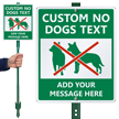 Custom No Dogs LawnBoss® Sign & Stake Kit