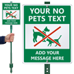 Custom No Pets LawnBoss® Sign & Stake Kit