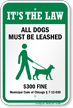 Dog Leash Sign For Chicago (Illinois)