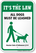 Dog Leash Sign For Houston (Texas)