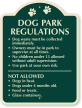 Dog Park Regulations SignatureSign, 24 in. x 18 in.