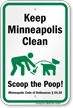 Dog Poop Sign For Minnesota