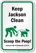 Dog Poop Sign For Mississippi