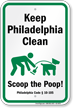 Dog Poop Sign For Pennsylvania