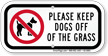 Keep Pets Away Grass Sign