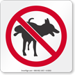 No Dog Pee Sign