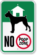 No Pooping Sign