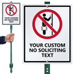 Custom No Soliciting LawnBoss® Sign & Stake Kit