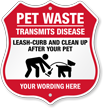 Custom Dog Poop Shield Sign