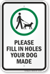Dog Leash Sign