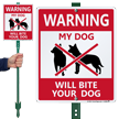Warning Dog LawnBoss® Sign & Stake Kit