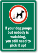 No Dog Poop Sign
