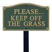 Keep Off Grass GardenBoss™ Statement Plaque With Stake